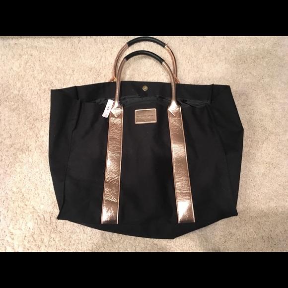 0483f66b37ca Black Victoria s Secret oversized tote bag.